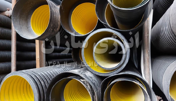تولید لوله پلی اتیلن دو جداره کاروگیت 250
